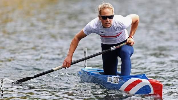 Katie Reid on the water