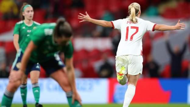 England 4-0 Northern Ireland: Beth Mead 'started shining' during Wembley hat-trick, says Sarina Wiegman