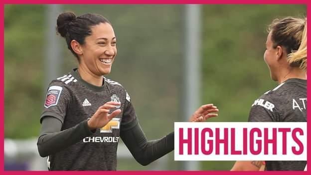 WSL: West Ham Women 2-4 Manchester United Women highlights