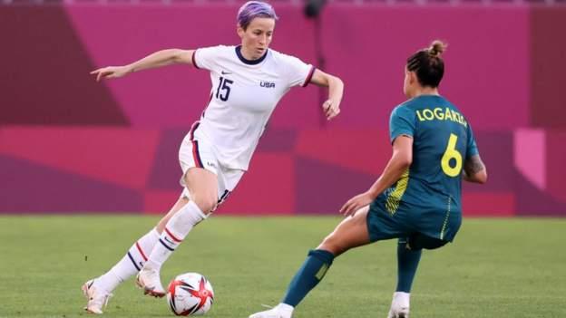 Women's Olympic football: USA held to draw by Australia