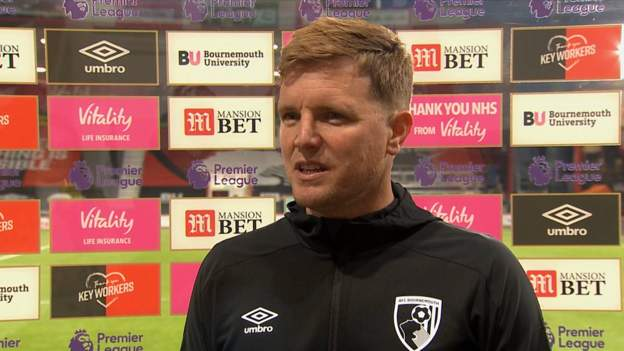 Bournemouth 0-2 Crystal Palace: Eddie Howe says conceding early goal knocked confidence thumbnail
