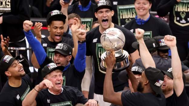 NBA play-offs: Milwaukee Bucks reach final after beating Atlanta Hawks