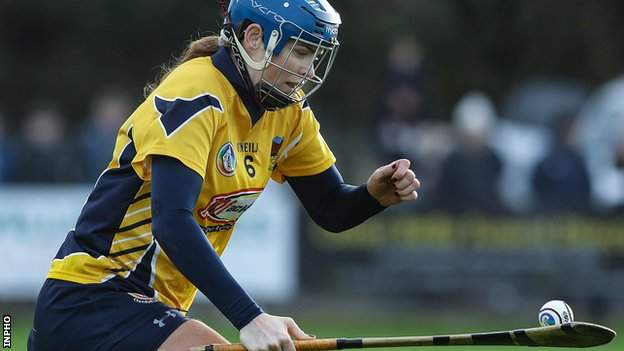 Fionnuala Carr in action for Clonduff