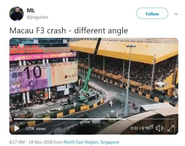 Fan footage of Sophia Florsch's crash in Macau