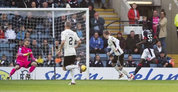 Billy Mckay fires Caley Thistle into the lead at Dens Park