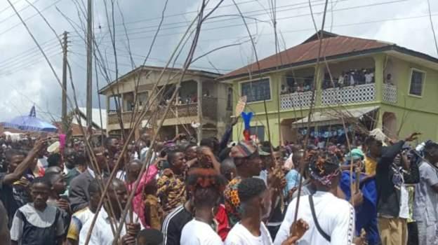 New Yam Festival celebrants in  Ilara-Mokin, Nigeria