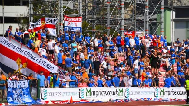 Rangers fans in Gibraltar