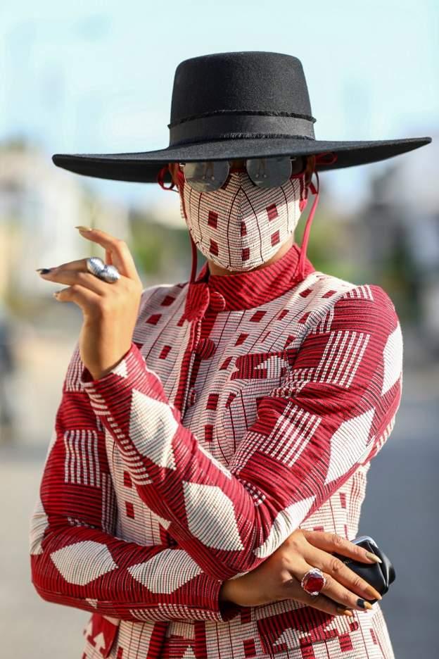 Face-mask fashion makes fighting virus 'more fun'