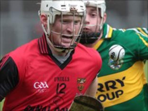 Conor O'Prey gets ahead of Kerry's Darragh O'Connell in the semi-final