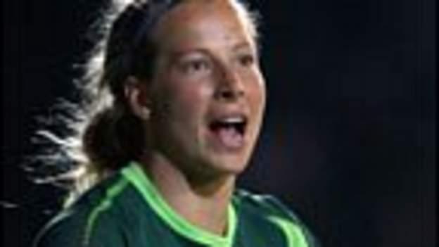 Goalkeeper Rachel Brown