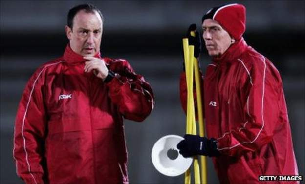 Rafael Benitez and Alex Miller