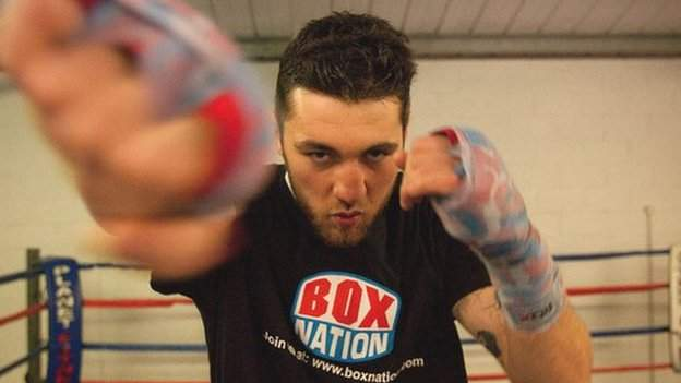 Nathan Cleverly sparring in his Aberbargoed