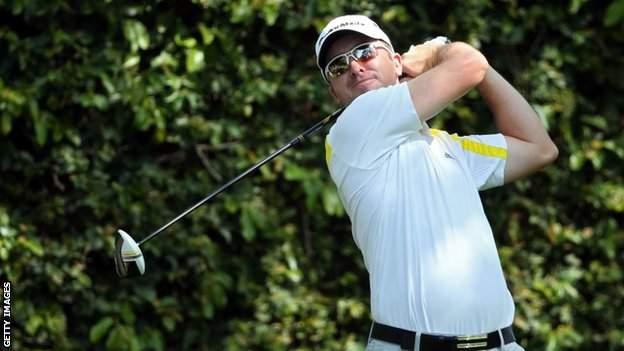 Martin Laird in practice at Augusta