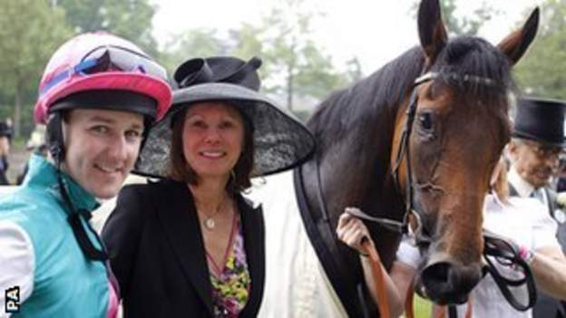 Jockey Tom Queally and trainer Lady Jane Cecil