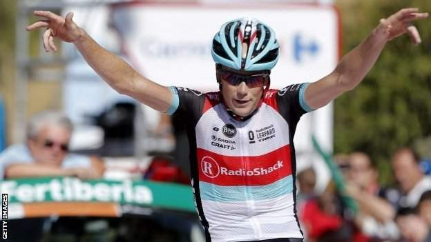 Chris Horner wins stage 10 of the Vuelta a Espana