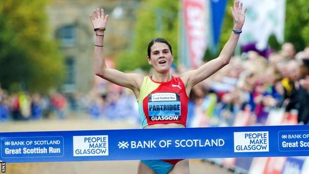 Susan Partridge was a winner at the Great Scottish Run