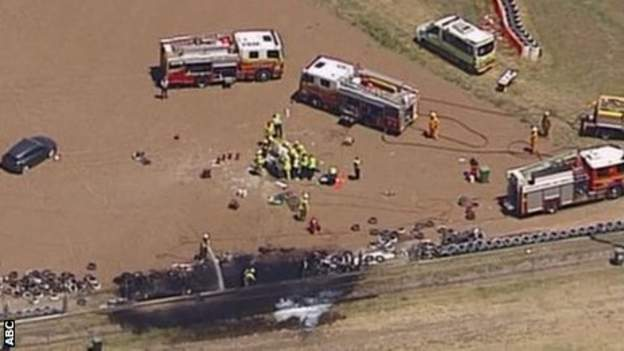 Scene of crash in Australia