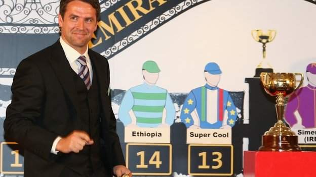 Michael Owen at the Melbourne Cup draw