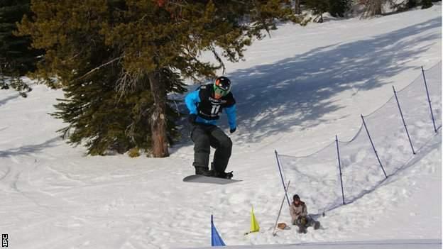 Paralympic snowboarder Matthew Robinson
