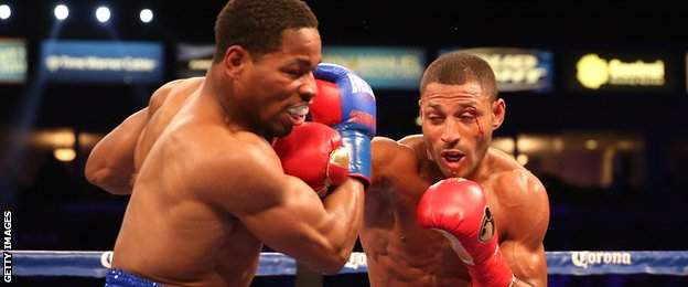Kell Brook on the way to beating Shawn Porter