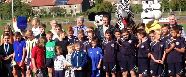 Chris O'Hare at the Dream Mile charity event in Greenock