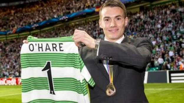Chris O'Hare on the pitch at Celtic Park