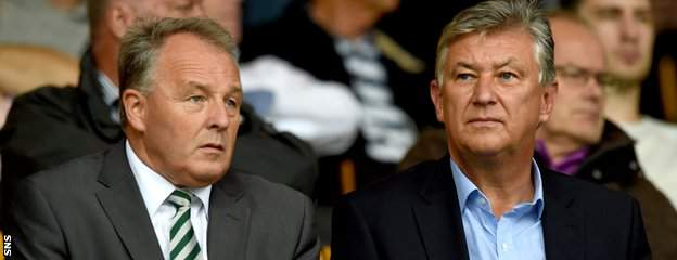 Celtic's John Park and Peter Lawwell