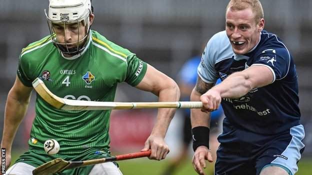 Ireland's Paul Divilly battles with Scotland's Conor Cormack