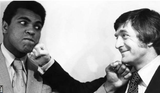 Muhammad Ali (left) and Michael Parkinson