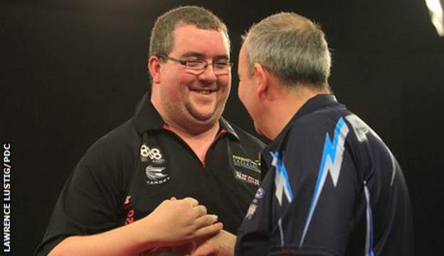 Stephen Bunting and Phil Taylor