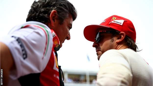 Marco Mattiacci and Fernando Alonso