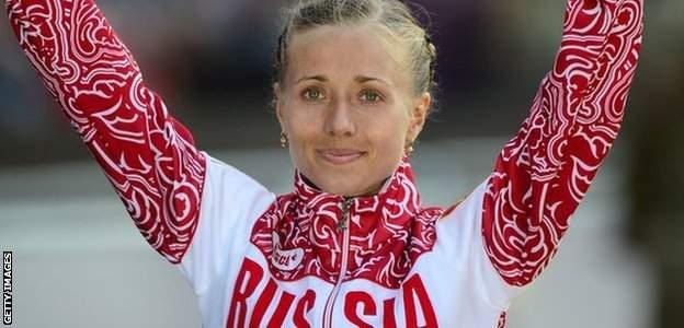 Russia's women's walker Olga Kaniskina