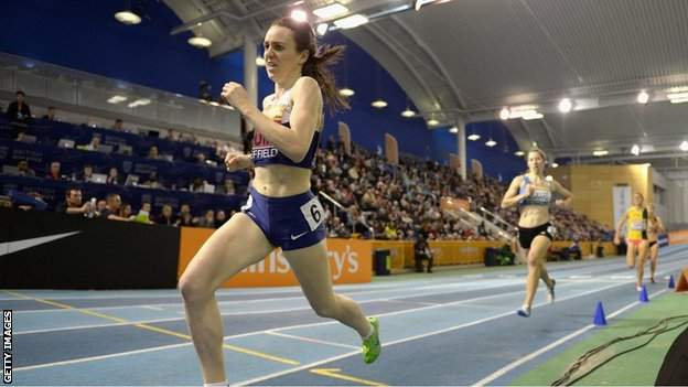Laura Muir on her way to winning the 1500m