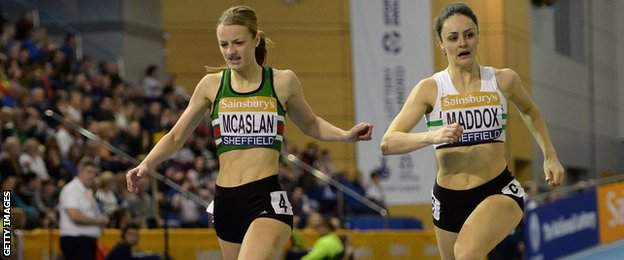 Kirsten McAslan beats Laura Maddox to the line