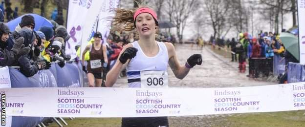Maddie Murray wins the women's race at Falkirk