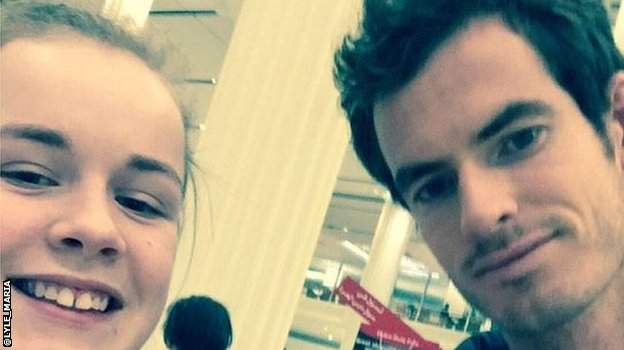 Maria Lyle and Andy Murray