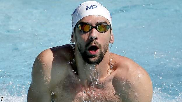Michael Phelps in the 400m freestyle