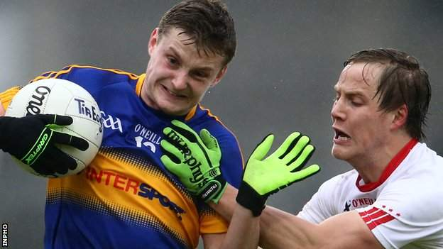 Tipperary's Conor Meyler under pressure from Kieran McGeary of Tyrone