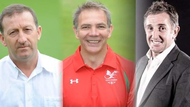 Huw Jenkins, Brian Davies and Jonathan Davies