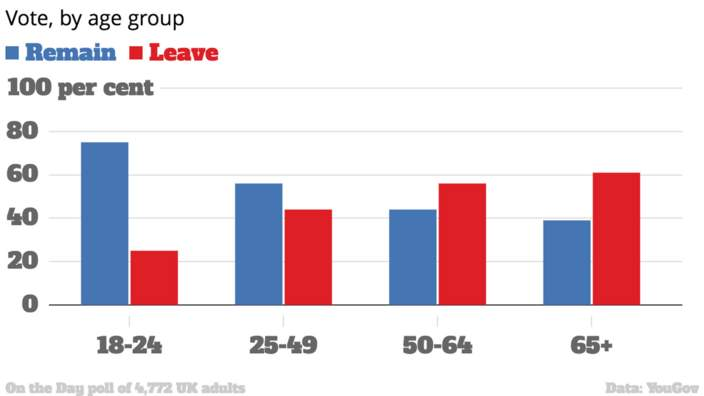 Image result for young people brexit