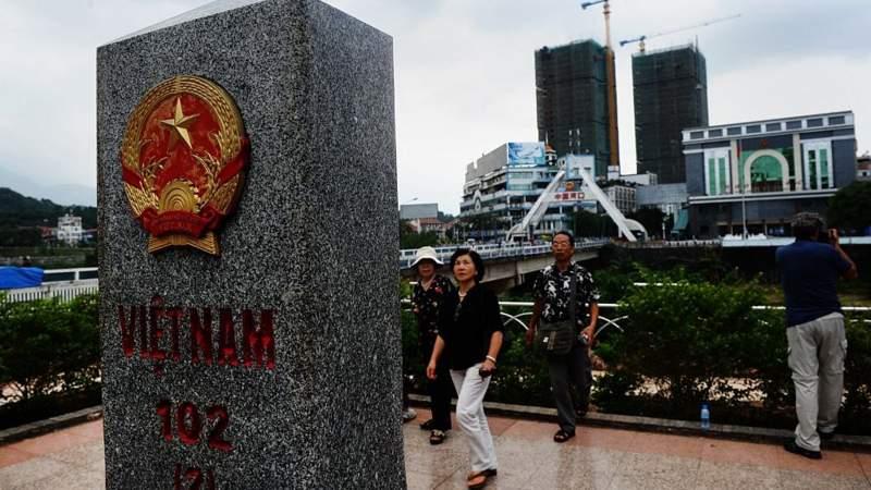Một cột mốc biên giới giữa Việt Nam - Trung Quốc