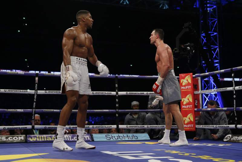 Anthony Joshua knocked out Klitschko in 11th round of the bout despite being floored in the 6th & was in more trouble than at any point in his career.