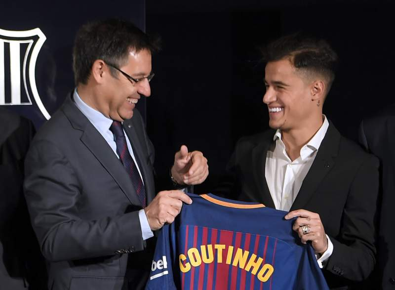 Joep Bartomeu and Coutinnho