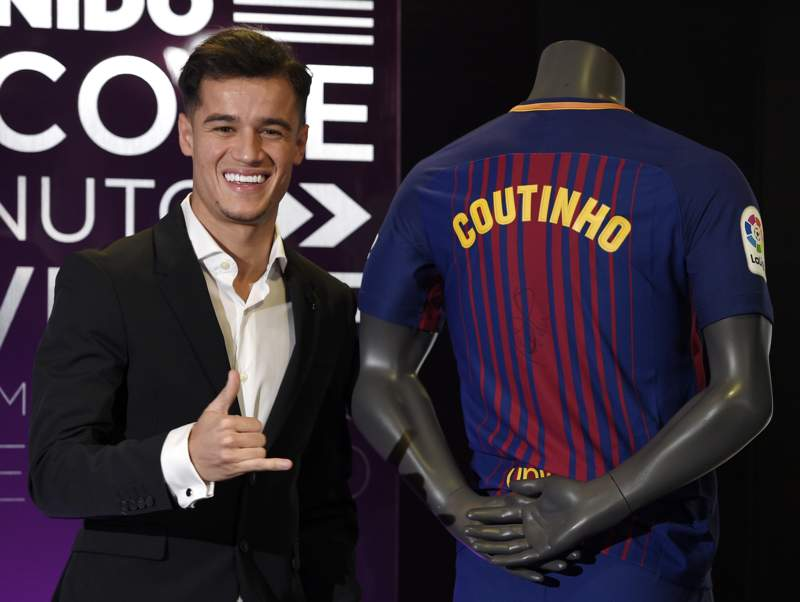 Coutinho is all smiles