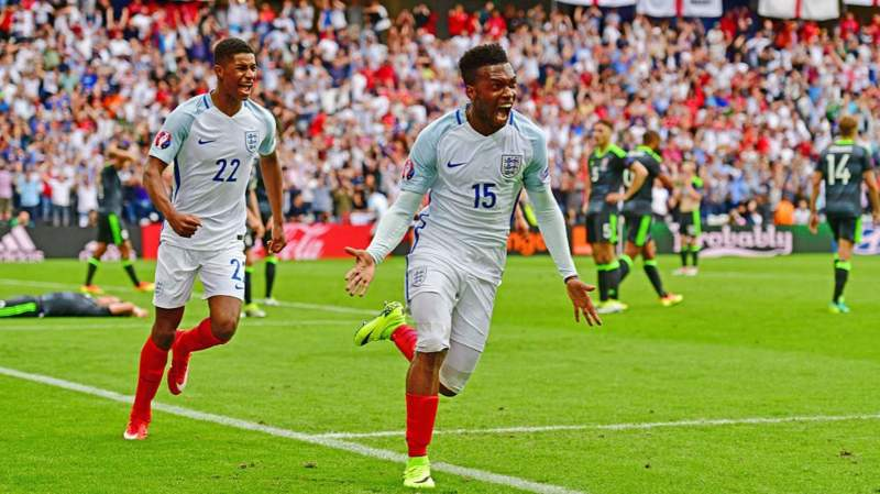Daniel Sturridge scores against Wales - Euro 2016