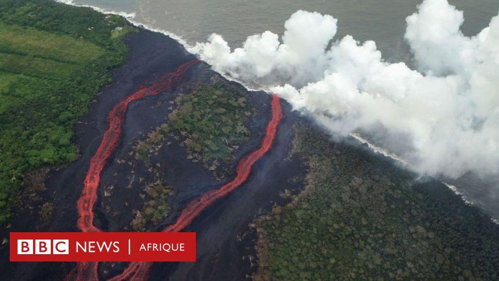 Que se passe-t-il quand la lave rencontre la mer ? - BBC News Afrique