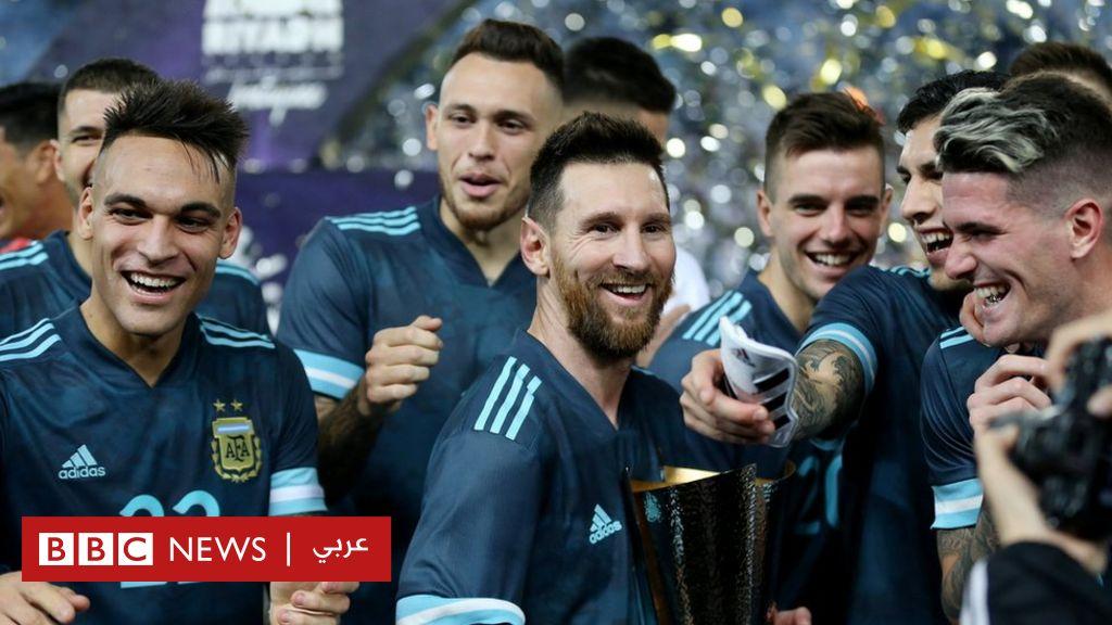 ميسي يحرز هدف فوز الأرجنتين على البرازيل في مباراة ودية في السعودية - BBC News Arabic