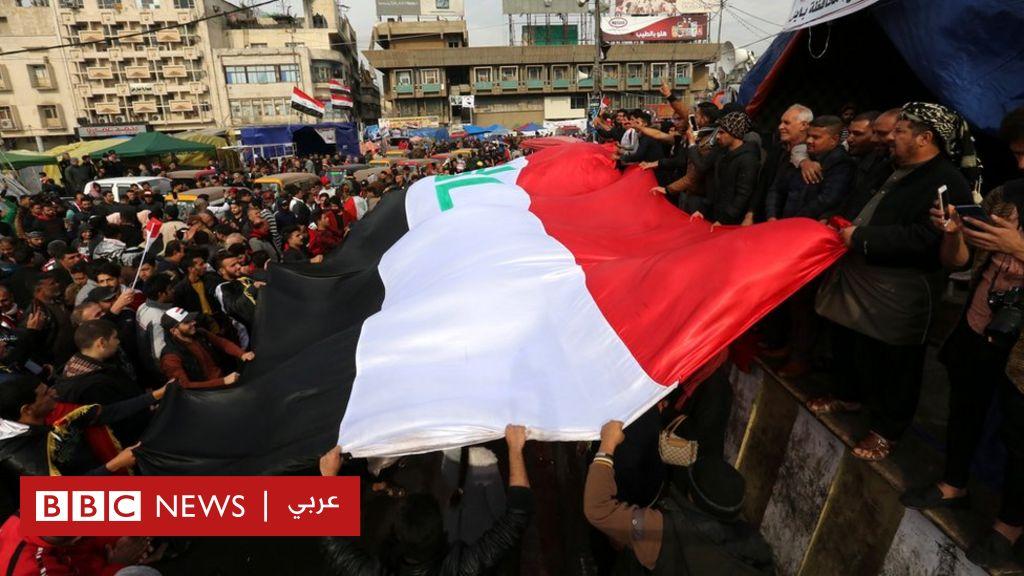 مظاهرات العراق:  احتجاجات حاشدة  في بغداد في ذكرى إعلان هزيمة تنظيم الدولة - BBC News Arabic