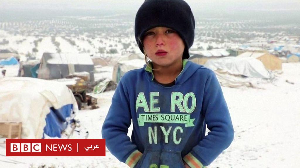 الحرب في سوريا: نازحون يخيمون وسط البرد القارس - BBC News Arabic