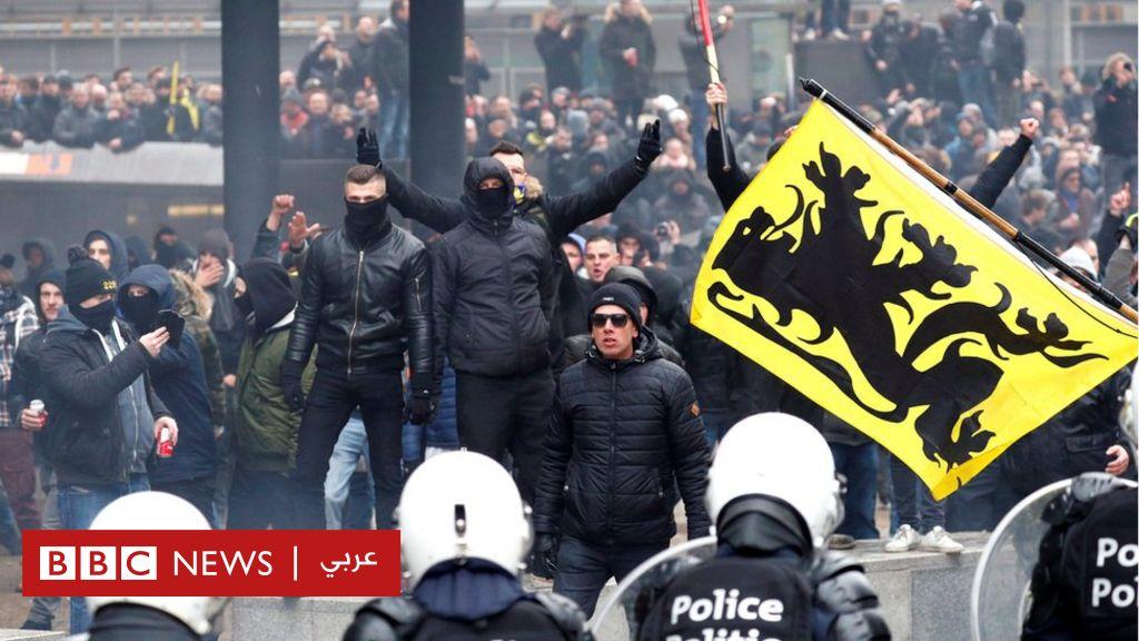 خروج الآلاف في بروكسل في مظاهرات مناهضة لاتفاق الهجرة